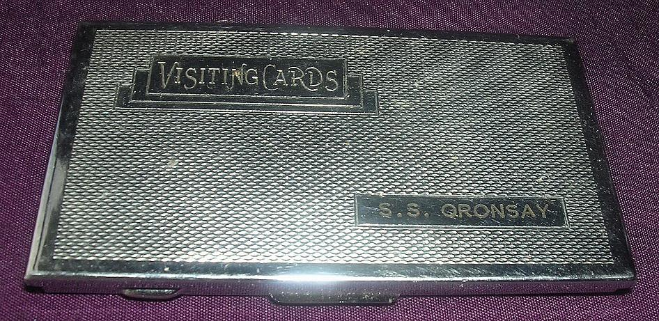 S.S. ORONSAY - Orient Line -Art Deco Visiting Cards Case