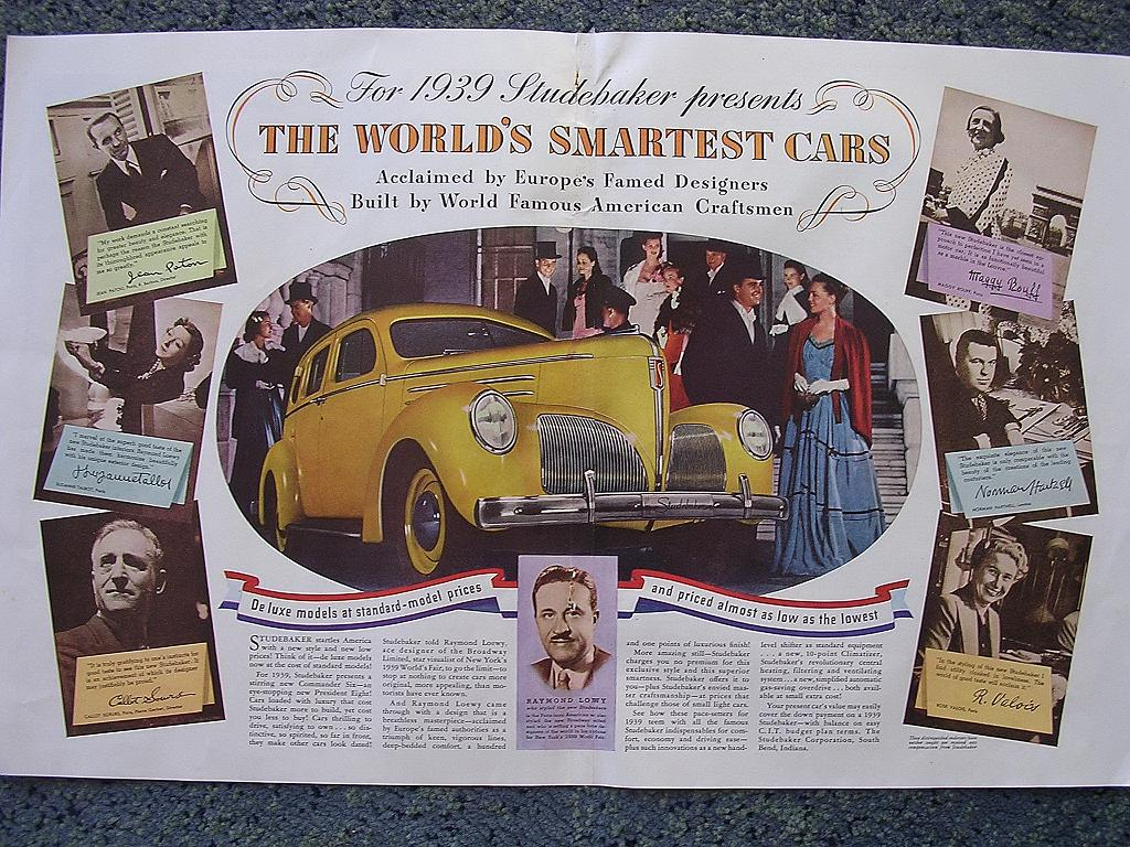 1938 STUDEBAKER Double Page Spread Advertisement