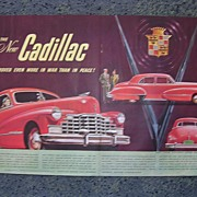 1940 CADILLAC Double Page Spread Advertisement