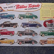 1940 PONTIAC Torpedo Double Page Spread Advertisement