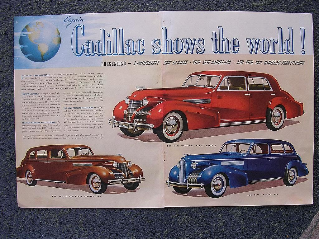 1938 CADILLAC Double Page Spread Advertisement