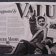 1939 General Motors 'VALUE' Double Page Advertisement