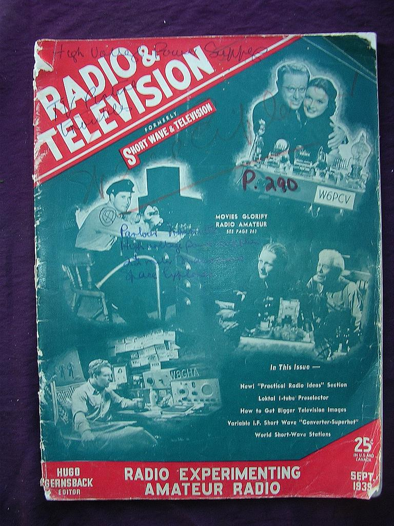 Radio & Television Magazine September 1939