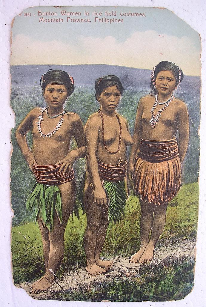 Philippines BONTOC Women Vintage Postcard