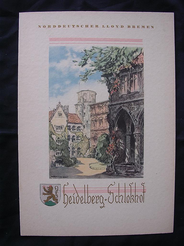 S.S.Stuttgart 1935 Menu Norddeutscher Lloyd Bremen