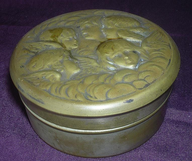 Victorian 'ANGELS' Small Dresser Tin