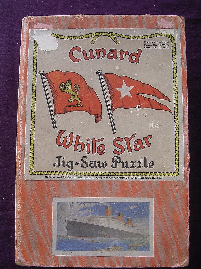 R.M.S.QUEEN MARY Cunard White Star Liner - Chad Valley Jigsaw