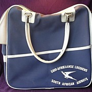 S.A.A. - South African Airways Cabin Bag - Circa 1970's - 80's.