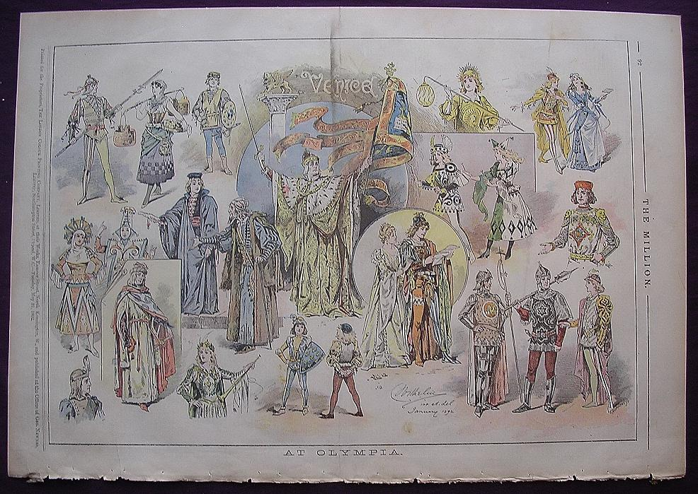 1892 Full Page From THE MILLION Titled 'At Olympia'