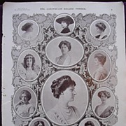 Coronation Of King George V & Queen Mary - Plate 11 The Coronation Of Queen Mary - Ladies Attending Her Majesty In Westminster Abbey