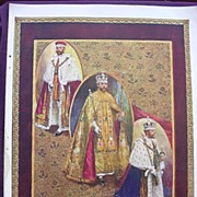 Coronation Of King George V & Queen Mary - Plate  XV1 The Coronation Robes Of George V