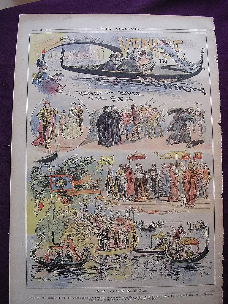 1898 Full Page THE MILLION Newspaper 'At Olympia'