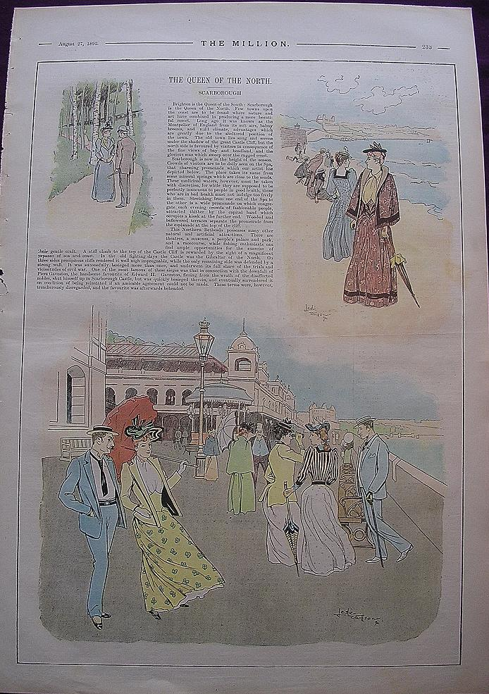 1892 Full Page From THE MILLION Newspaper ' The Queen Of The North'