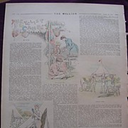 1892 Full Page From THE MILLION Newspaper ' The Cyclists Camp'