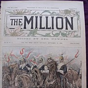 1892 Front Cover From THE MILLION Newspaper 'HALT! Scene In The Long Valley, Aldershot, During The Summer Drills'