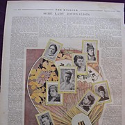 1892 Full Page From THE MILLION NEWSPAPER Titled 'Some Lady Journalists'