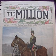 1892 Front Cover From THE MILLION Newspaper ' Types Of The British Army. Sergeant-Major, Royal Horse Artillery'
