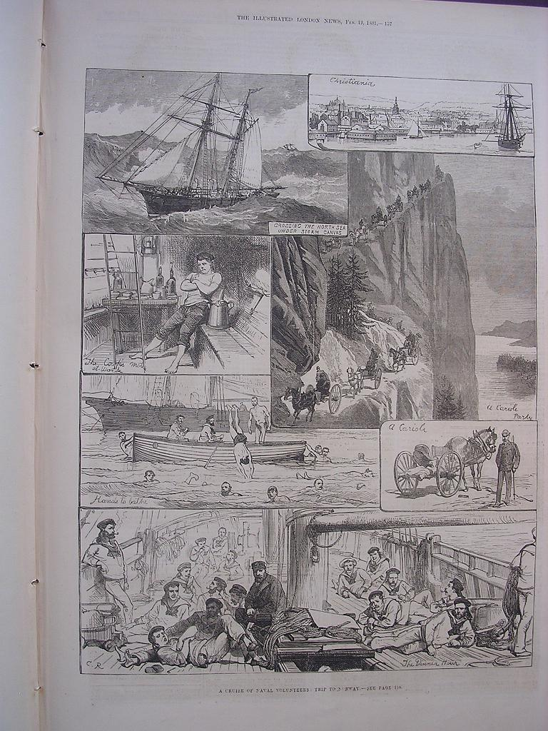 'A Cruise Of Naval Volunteers: Trip To Norway' - Illustrated London News Feb.12 1881