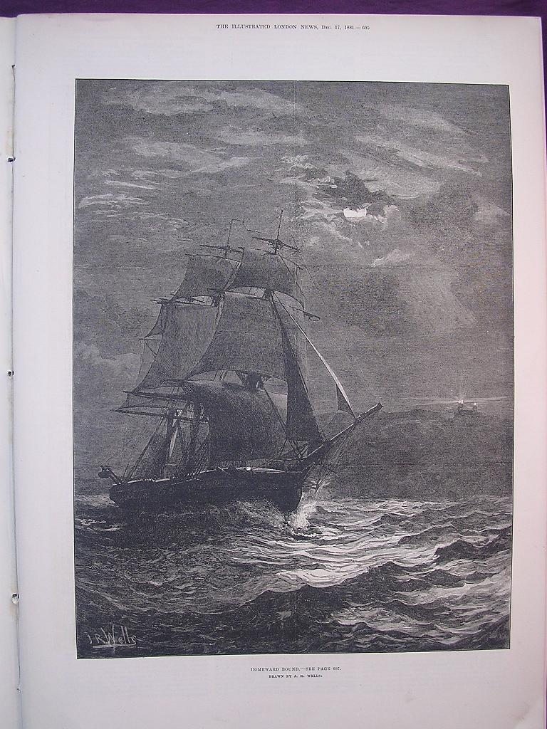 'Homeward Bound' - Illustrated London News Dec. 17 1881
