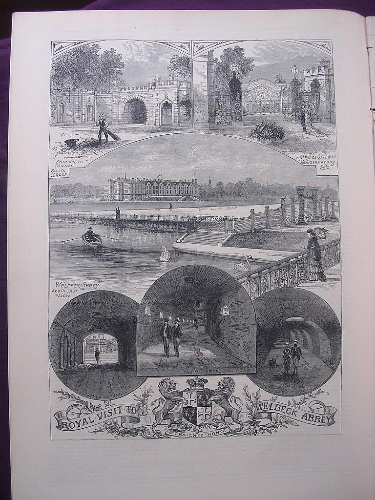 'Royal Visit To WELBECK ABBEY' - Illustrate London News Nov. 26 1881