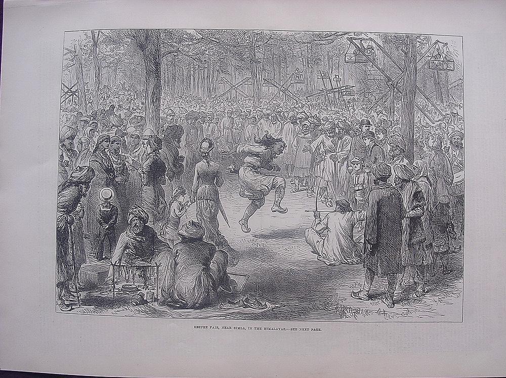 'SEEPEE FAIR, Near Simla, In The Himalayas' - Illustrated London News Nov. 12 1881