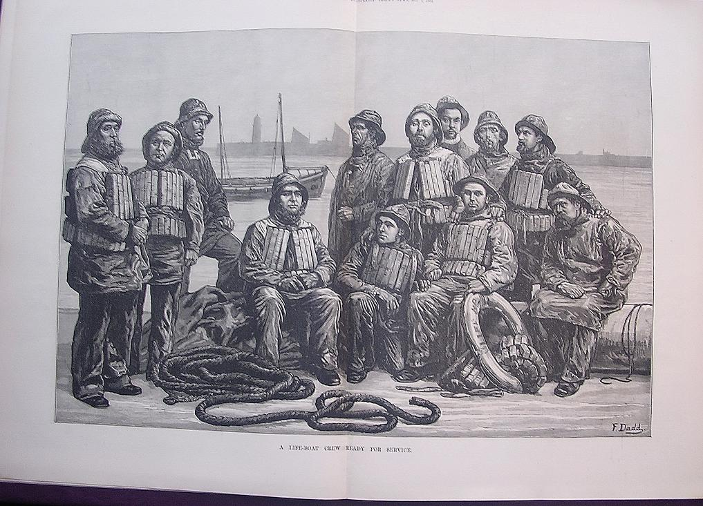 'A Life Boat Crew Ready For Service' - Illustrated London News Nov. 5 1881