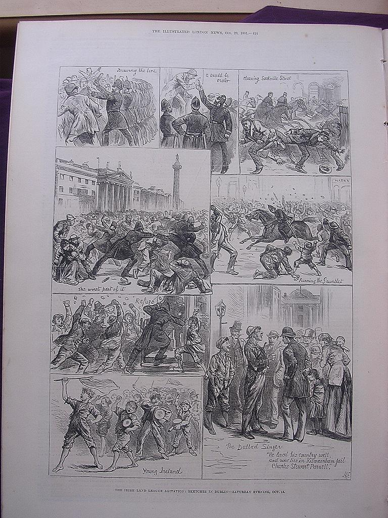 The Irish Land League Agitation: Sketches In Dublin Saturday Evening, Oct.15' - Illustrated London News Oct.29 1881