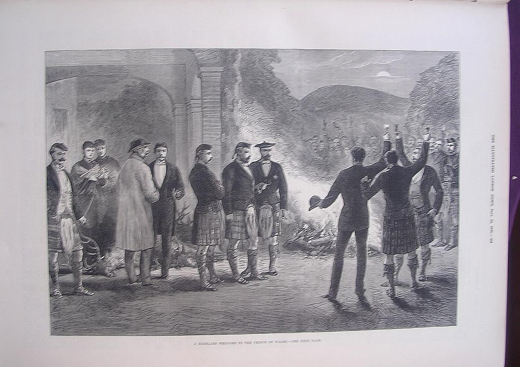 'A Highland Welcome To The Prince Of Wales' - Illustrated London News Sept. 28 1881