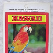 Vintage Hawaiian PARROT Sticker By Pacific Promotions Inc