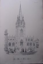 Stunning Large 1858 Lithograph of SAINT MARY THE VIRGIN  - Oxford - Oxfordshire