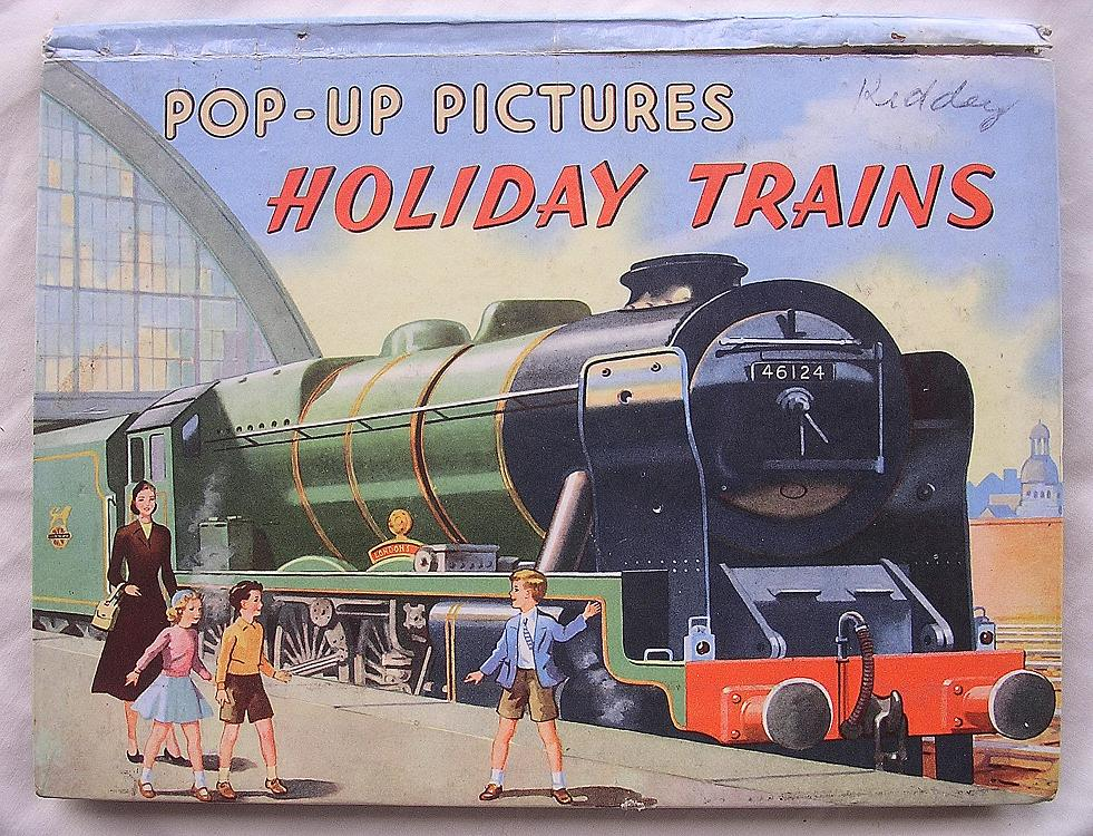 POP-UP Pictures of Holiday Trains Circa 1950