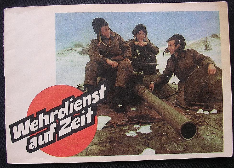 """GDR - East Germany Propaganda Booklet """" WEHRDIENST Auf Zeit"""" 1986"""