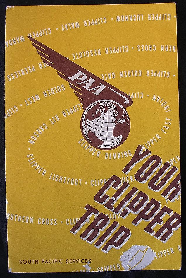 "Vintage 1947 Pan American Airways 'Your Clipper Trip"" Booklet"