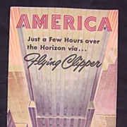 Vintage 1947 Pan American Airways 'AMERICA' Pamphlet