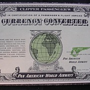 Vintage 1955 PAN AMERICAN Currency Converter Booklet