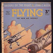 Rare Vintage Original 1938 'FLYING' Magazine