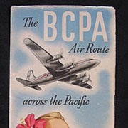 Vintage Airlines Pamphlet 'The BCPA Air Route Across The Pacific'