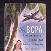 Vintage BCPA  Pamphlet 'Fly BCPA  Across The Pacific'