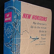 Vintage 1956 Pan American 'New Horizons' World Travel Guide
