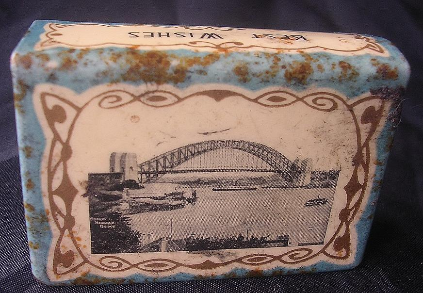 Old Sydney Harbour Bridge Souvenir Matchbox Holder