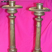 Pair Of Beautiful Church Altar Candle Sticks Circa 1850 -1880