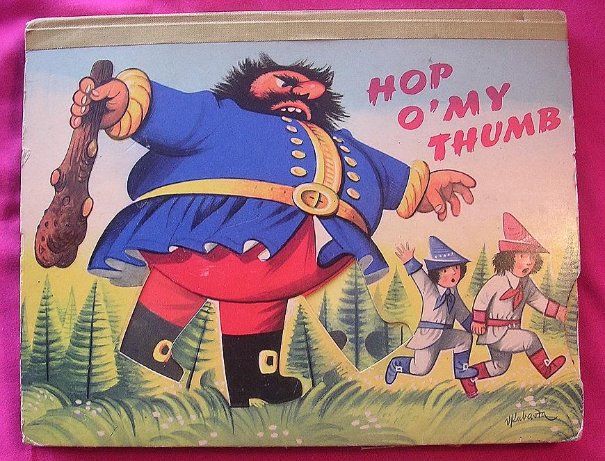 POP-UP Book 'Hop O'My Thumb' & Jack & The Beanstalk' Bancroft 1962