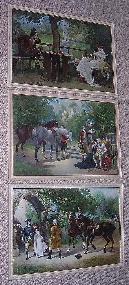 A Set Of Three Gorgeous Regency Period Lithographs