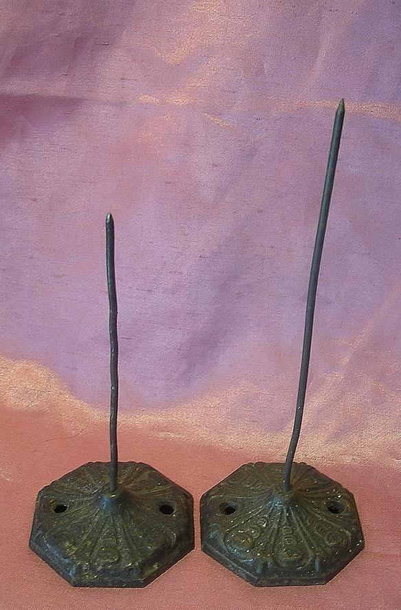 A Pair of Victorian Paper Spikes or Bill Hooks