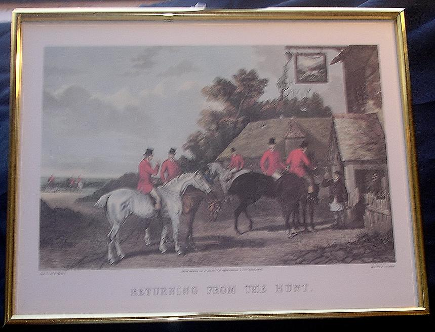 "FOX HUNTING Print ""Returning From The Hunt"""