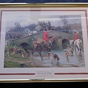 "FOX HUNTING Print ""Crossing The Bridge"""