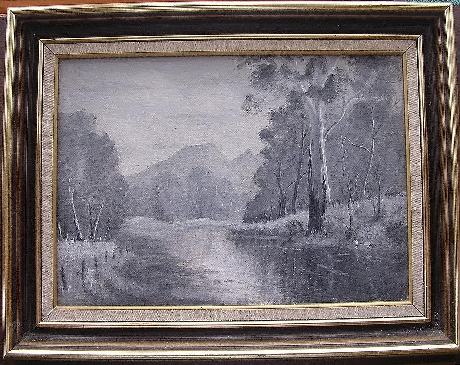 Original Acrylic on Canvas Australian Bush Scene 'WHITE SOLITUDE'