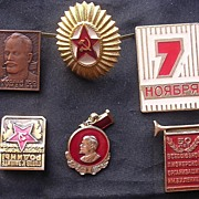 Vintage Russian SOVIET Badges Lot of Six