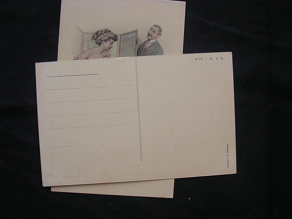 Victorian era naughty postcards