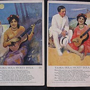 A Pair of Rare Early 1900's HAWAIIAN HULA Inspired Cards